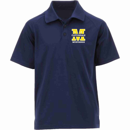 "Adult Navy Blue Polo ""M"" Logo"