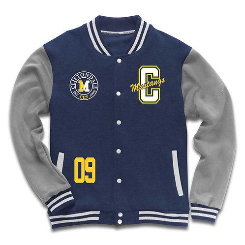 Youth Navy and Grey Varsity Jacket