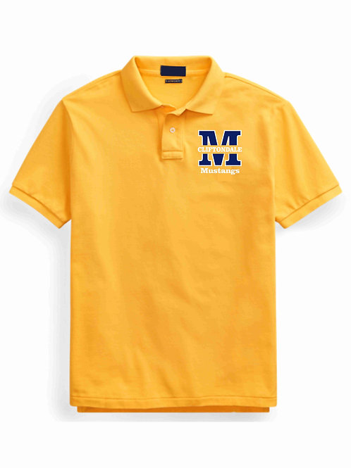 "Youth Gold Polo ""M"" Logo"