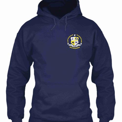 """Navy Blue Pullover """"C/M Shield"""" Logo"""