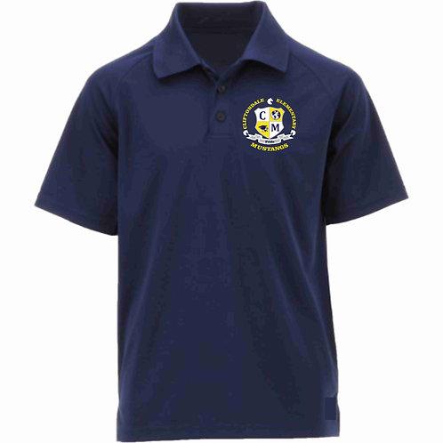 "Adult Navy Blue Polo ""C/M Shield"" Logo"