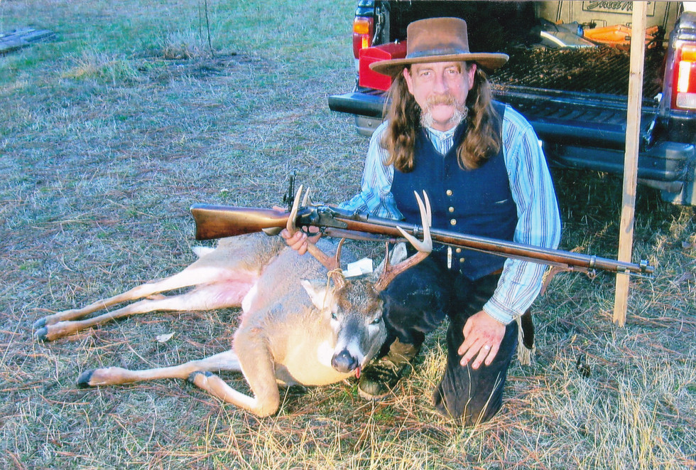 Whitetail deer shot with an 1884 Trapdoor Springfield rifle at 100 yards.