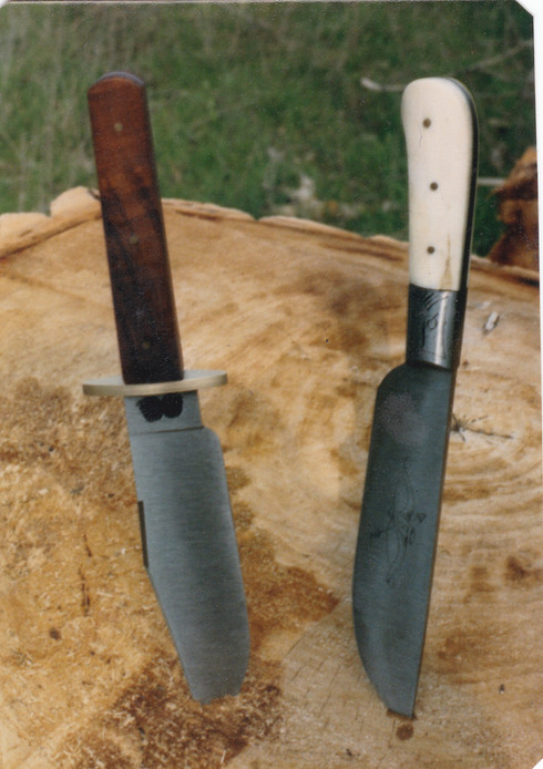 Set of knives handmade by Fiddlin' Red Simpson.