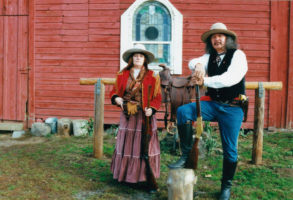 Reggie and Becky Byrum, fellow Buffalo Bill's Wild West Show friends.