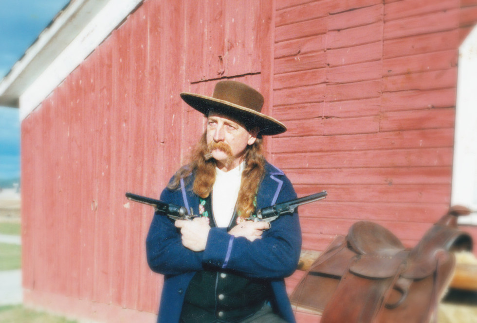 Fiddlin' Red Simpson as Wild Bill Hickock in the Buffalo Bill Wild West Show.