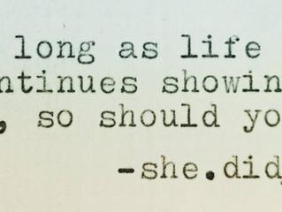 She.did__! Week 5