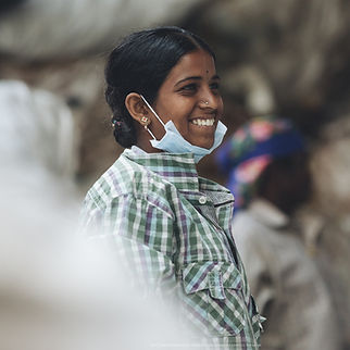Waste worker from Waste Ventures India, a rePurpose Global Impact partner