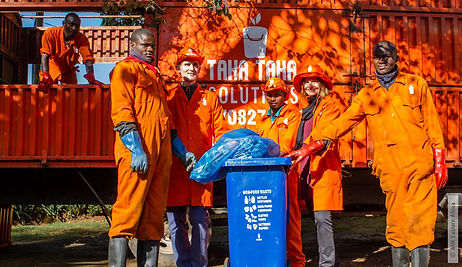Waste workers from Taka Taka Solutions, a rePurpose Global impact partner