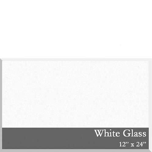 White Glass Tile 12x24