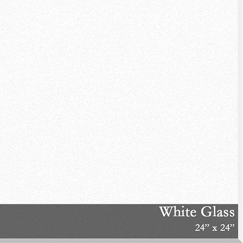 White Glass Tile 24x24