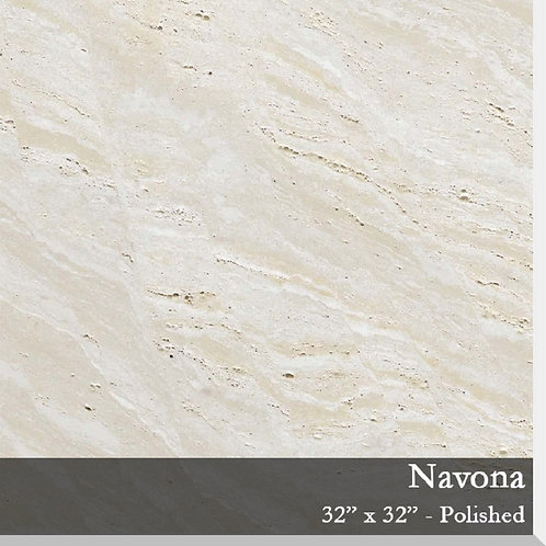 Porcelain Travertine Navona 32x32 Polished