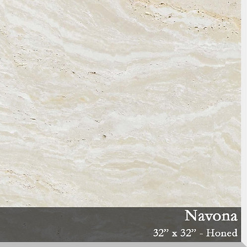 Porcelain Travertine Navona 32x32 Honed