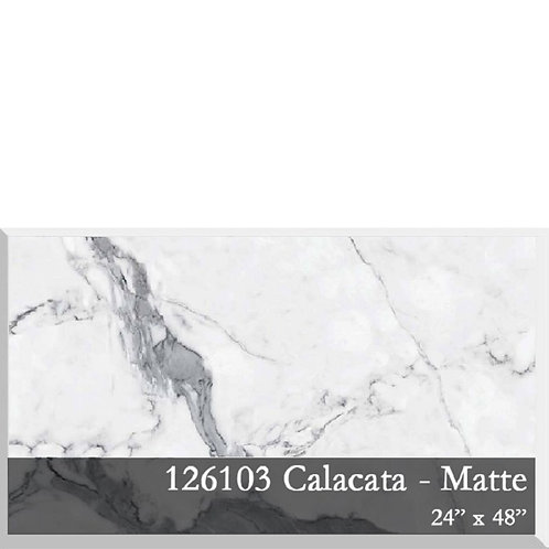 Calacata Porcelain 24x48 6mm thick,Matte