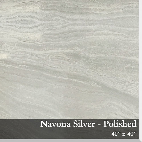 Porcelain Travertine Silver 40x40 Polished