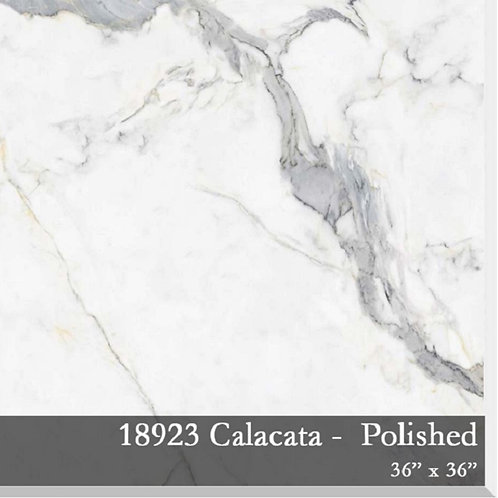 Calacata Porcelain 36x36 6mm thick, Polished
