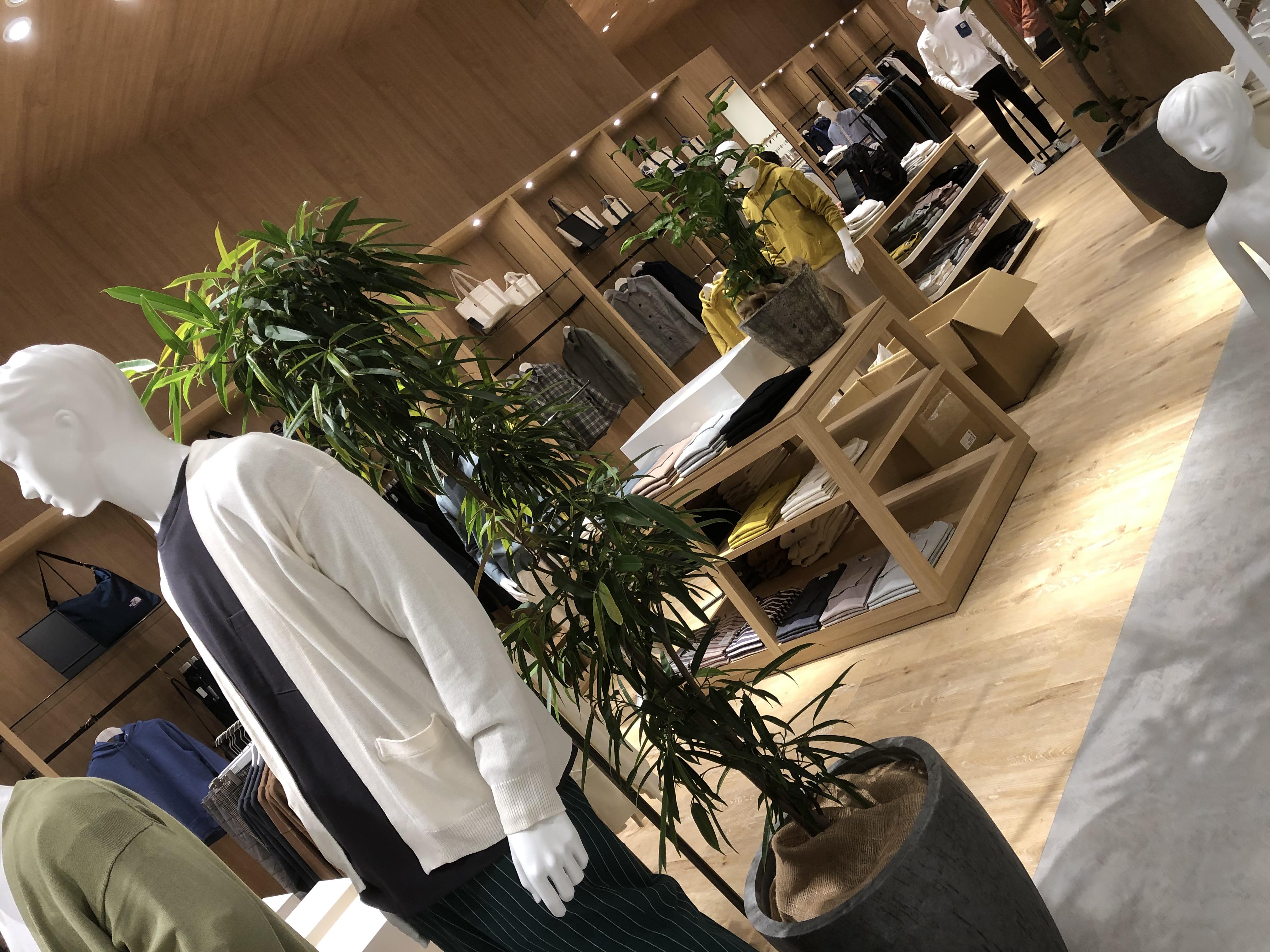 ファッションショップのグリーンコーディネート