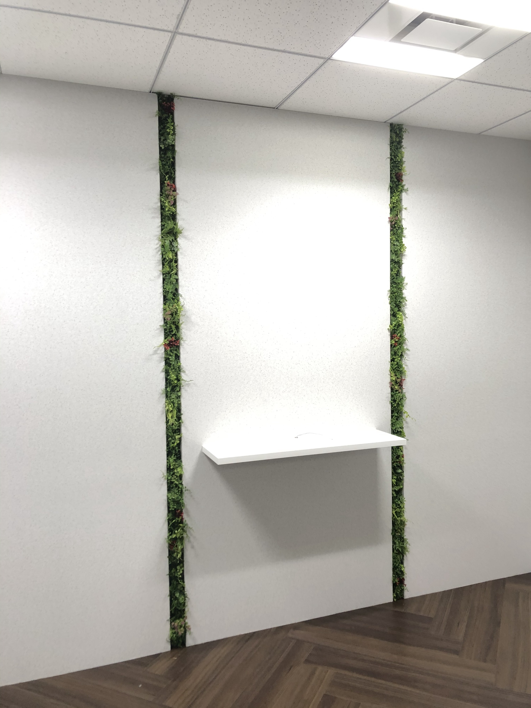 幅7cmのグリーン装飾
