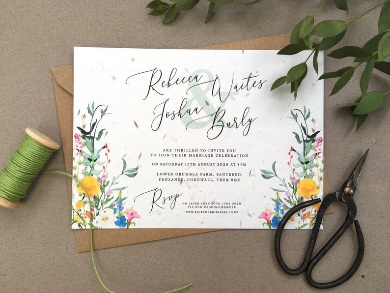 How to have an eco-friendly wedding, eco-friendly wedding stationery