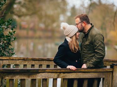 Autumn Engagement shoot at Pittville Park