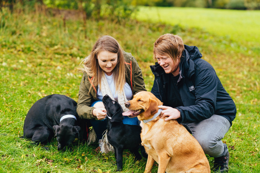 Emily, Tim & Doggies, Engagement Shoot,