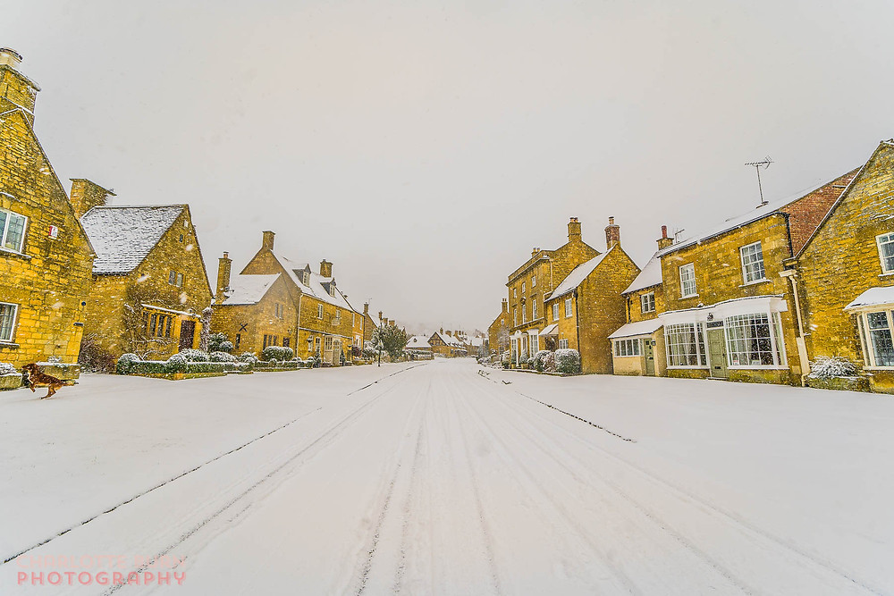 Broadway, Worcestershire in the snow, Cotswold Photographer