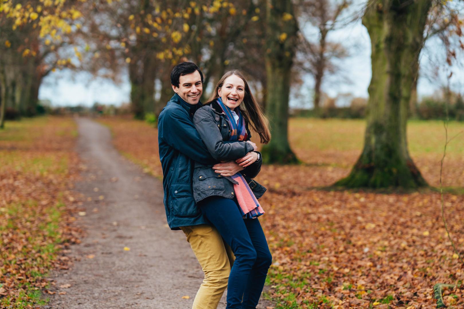 S&J, Autumn Engagement Session, Moreton,
