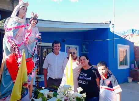 Nos visitó la Virgen de San Nicolás