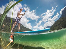 Stand Up paddleboarding (SUP) Predil Lake