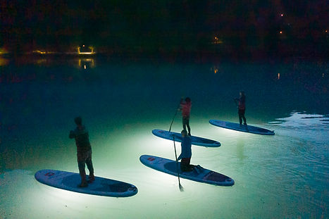 SUP in the Night Stand Up paddle board