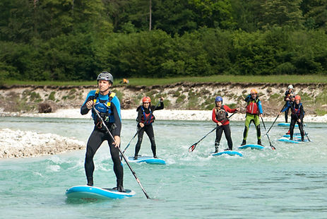 Stand up paddleboarding (SUP) Soča river