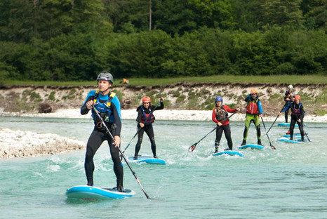 Soča whitewater SUP Stand up paddleboard