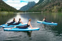 Stand Up paddleboarding (SUP) Yoga Predil Lake