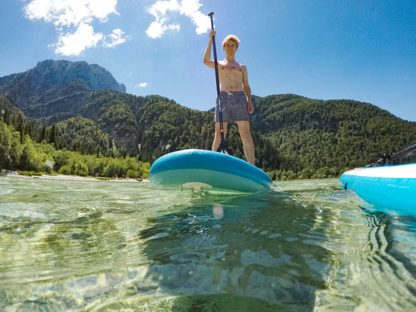 SUP Stand Up paddle board Lake Predil Bo