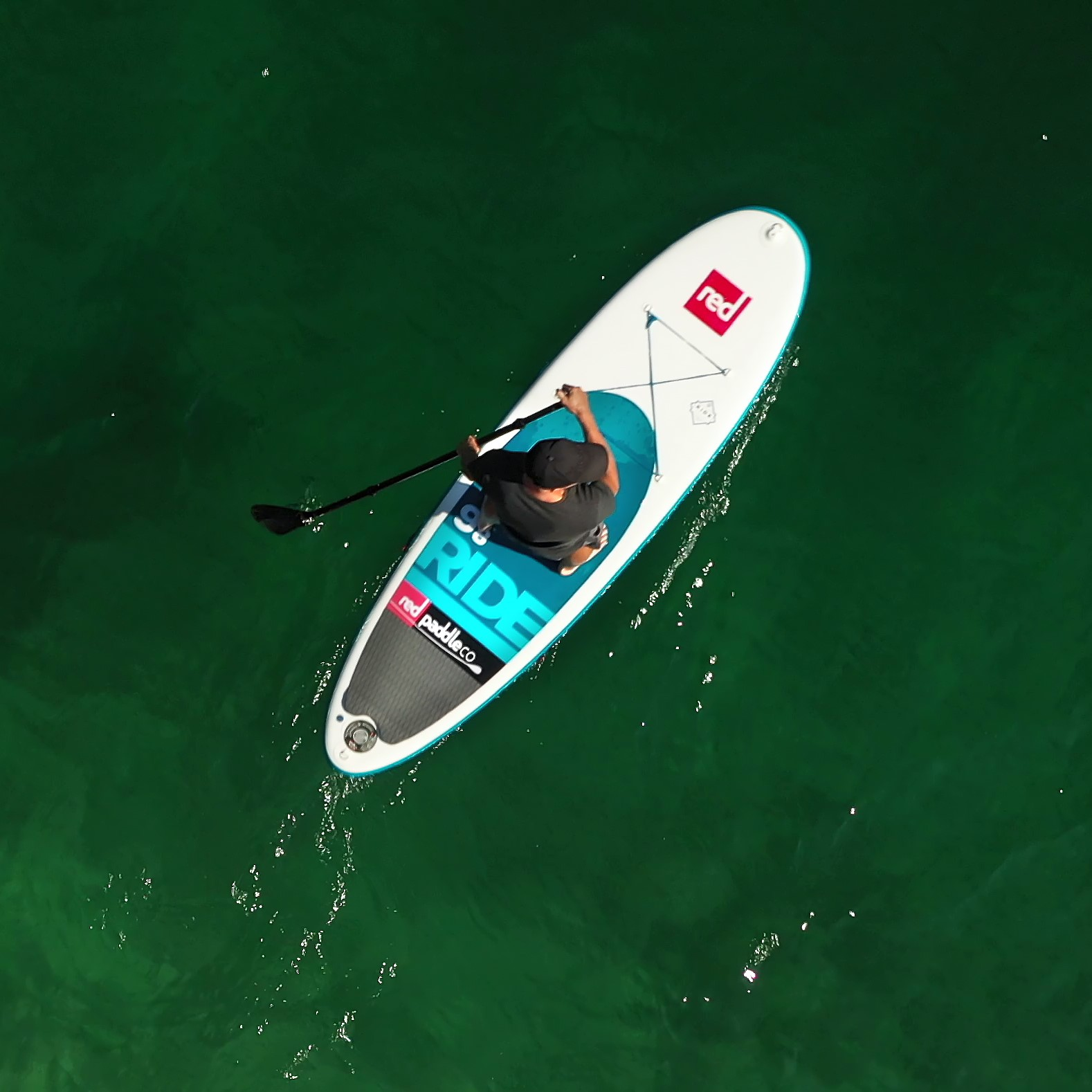 bovec paddle board sup birds eye view