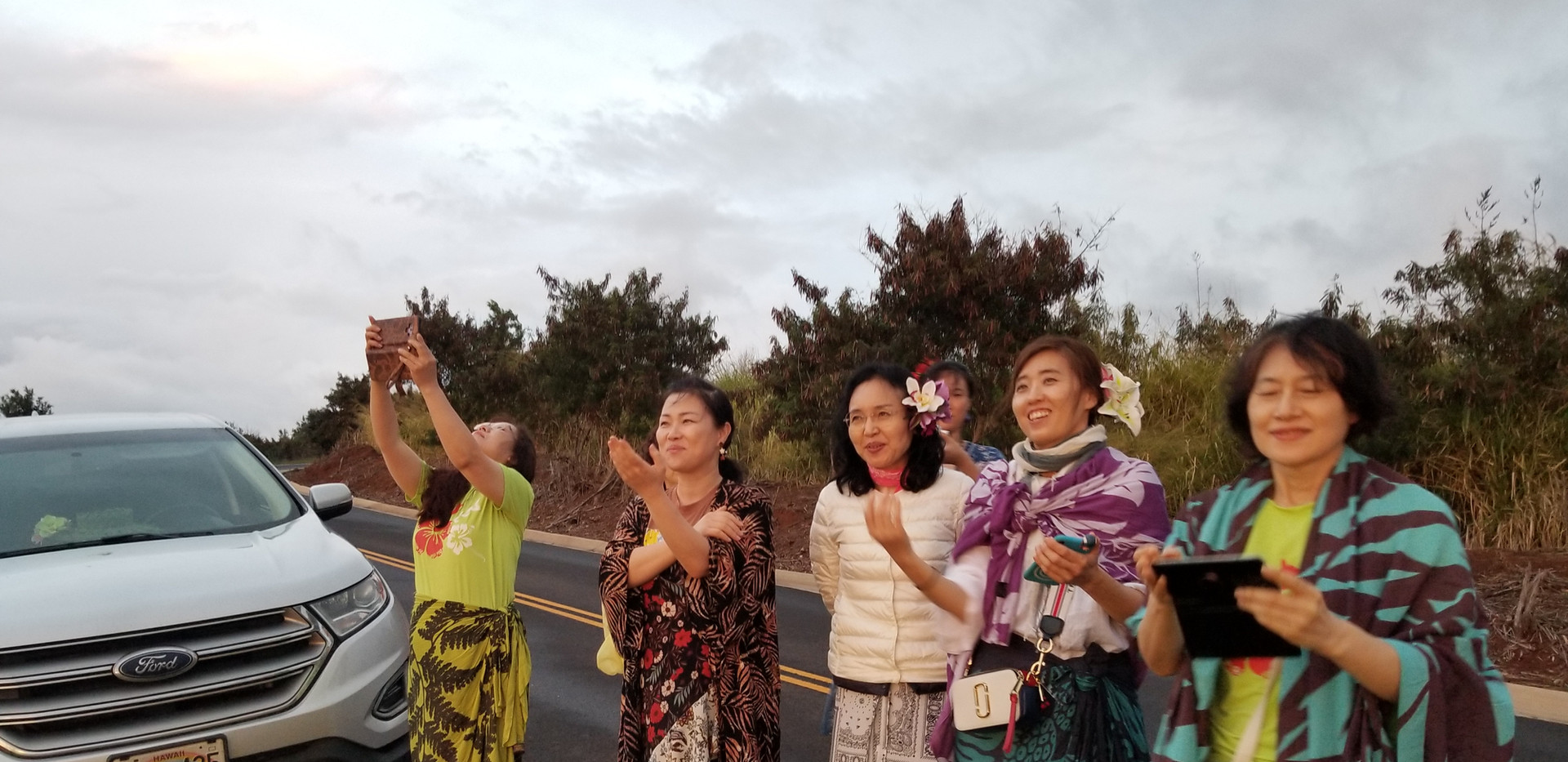 Korean Halau Group Visiting Kaua'i