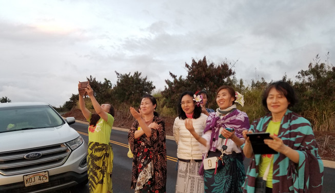 Korean Halau Group Visiting Kaua'i