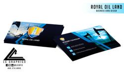 Royal Oil Land Business Cards Mockup