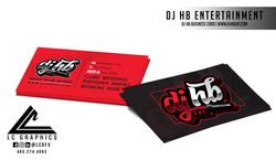 Dj HB Business Cards Mockup