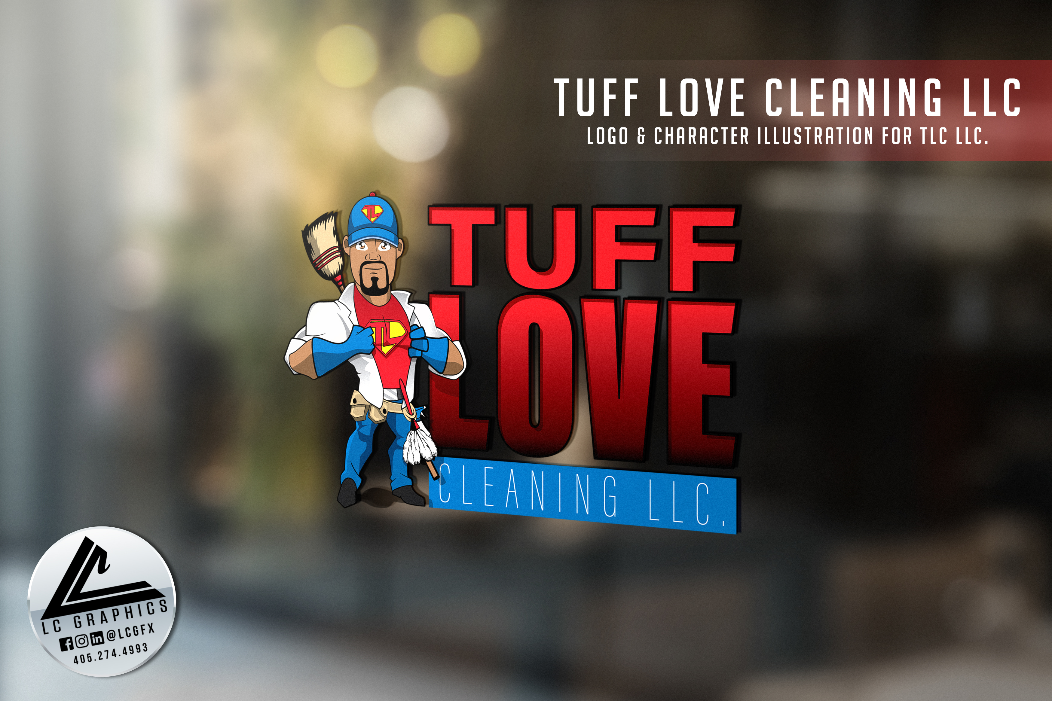 Tuff Love Cleaning Logo Mockup