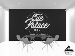 Cue Palace Logo Mockup