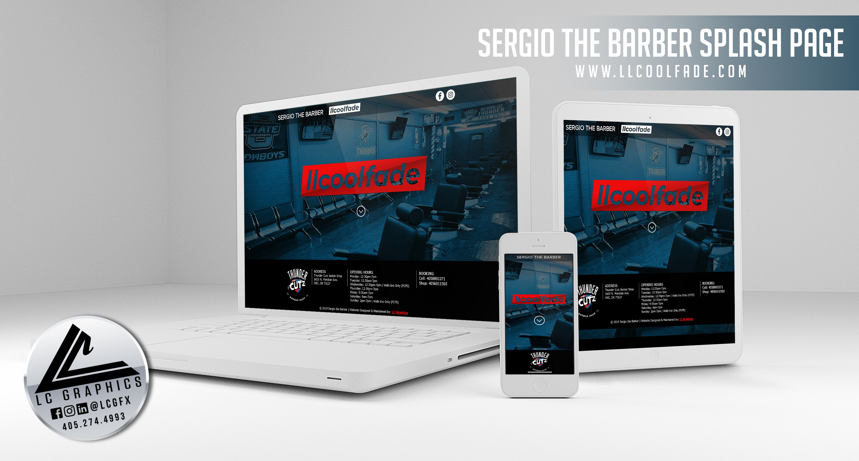 Sergio the Barber Website Mockup 2