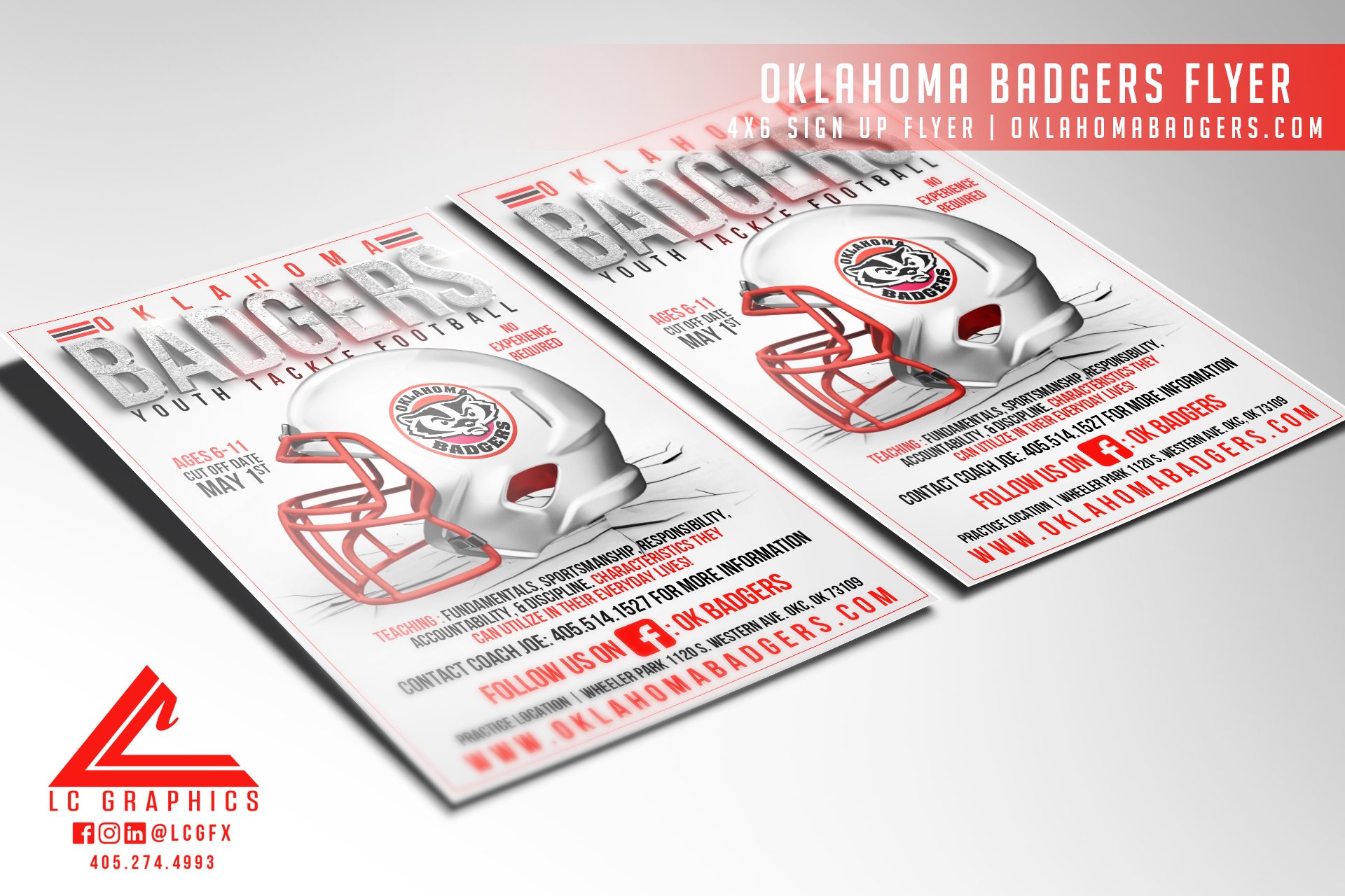 Oklahoma Badgers 4x6 Flyer Mockup