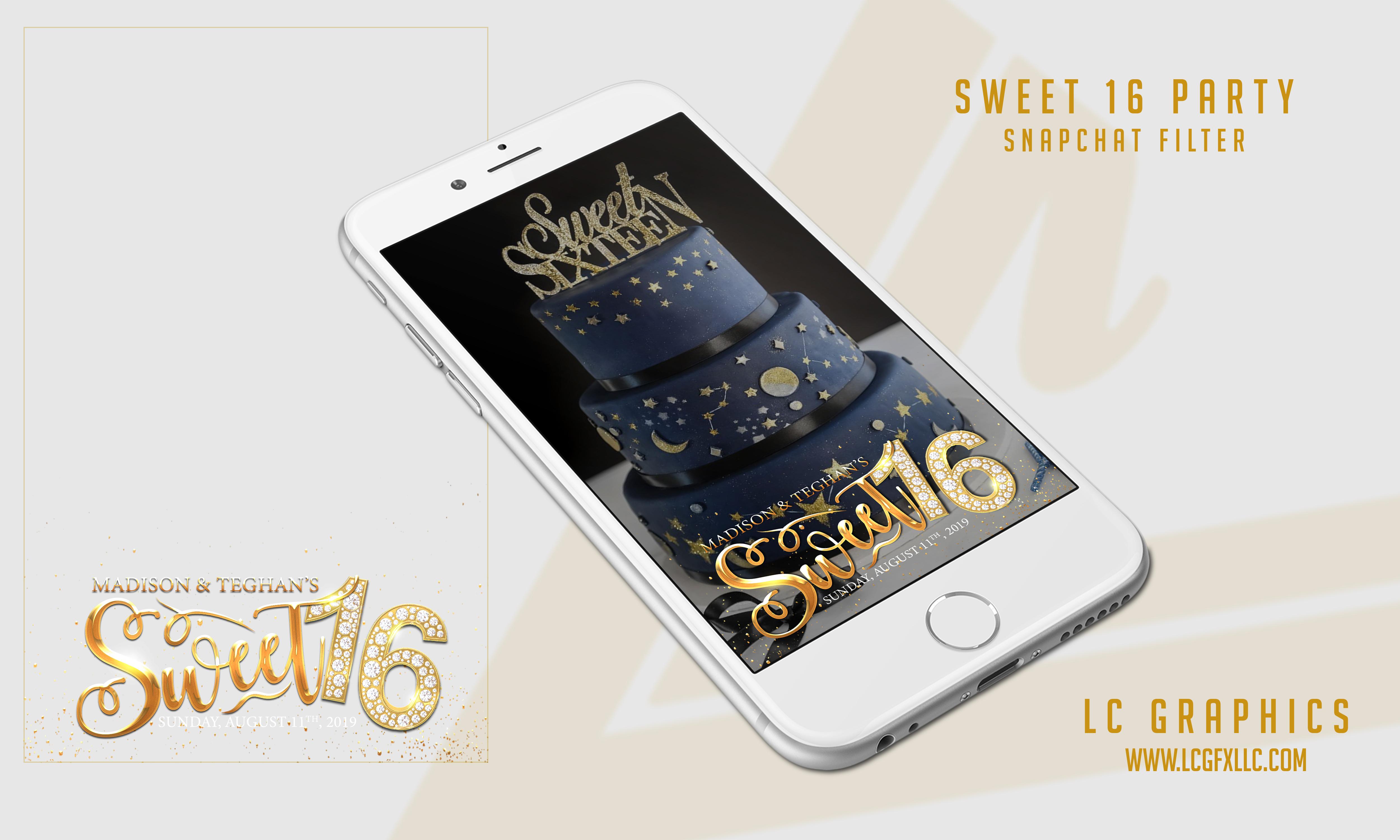 Sweet 16 Snapchat Mockup