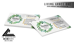 Living Grace OKC Business Cards Mockup