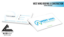 West Wing Roofing Business Cards Mockup