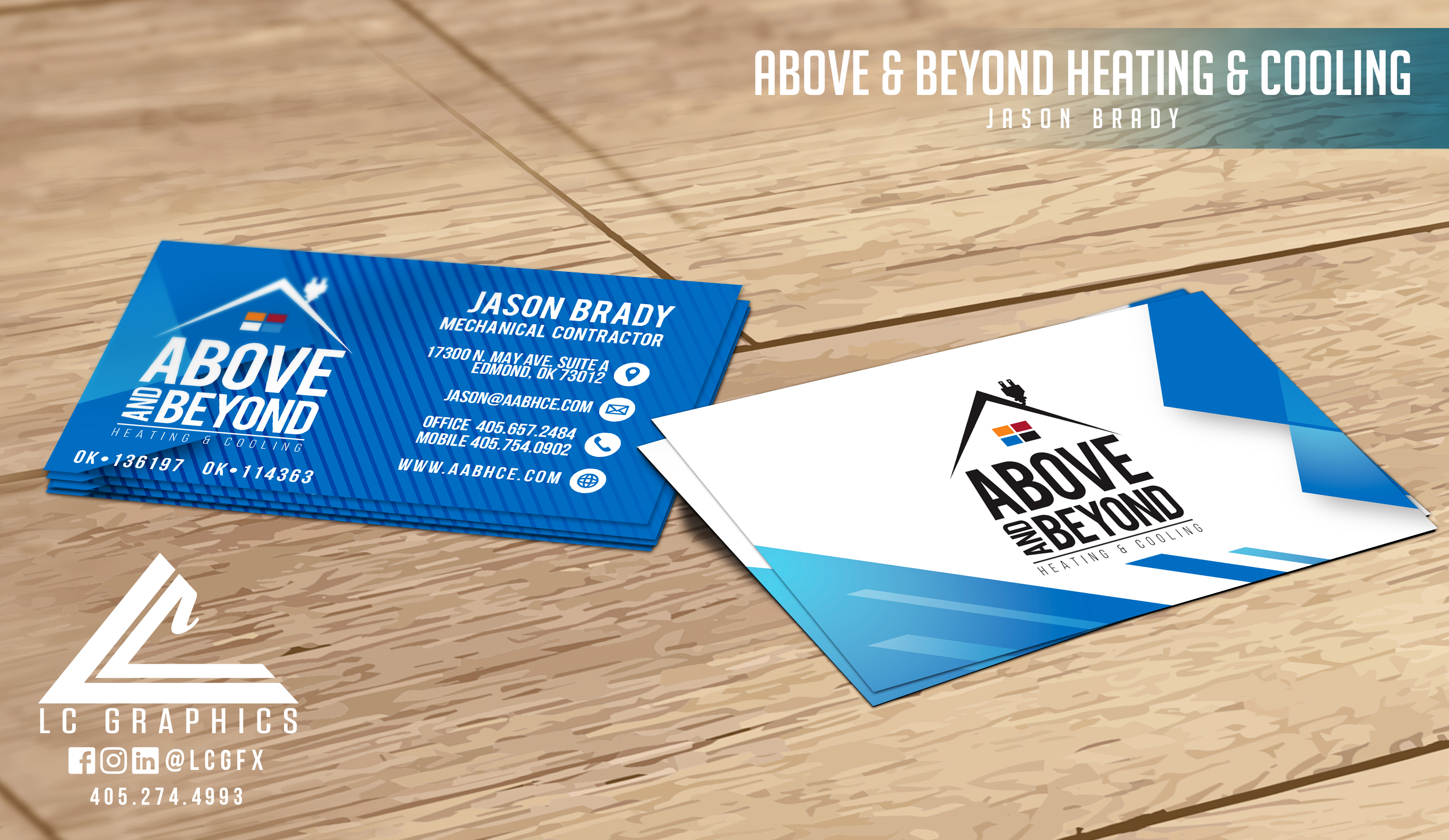 Above & Beyond HVAC Card Mockup