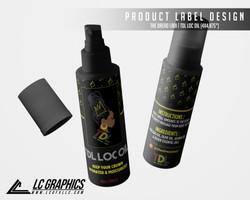 The Dread Ladi TDL Loc Oil Label Mockup