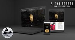 PJ The Barber Website Mockup