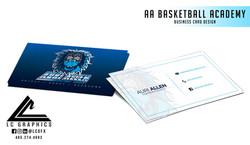 AA Basketball Academy Business Cards Moc