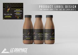The Dread Ladi TDL Loc Oil Label Mockup.